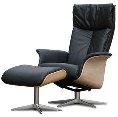 . Design relax fauteuil retro design zwart online kopen