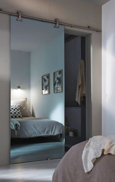 Discover the ultimate styles and inspirations of the master bedroom - divider Bedroom Divider, Bedroom Closet Design, Master Bedroom, Bedroom Decor, Bedroom Mirrors, Bedroom Ideas, Hippie Style Rooms, Dressing Room Design, Bathroom Design Luxury