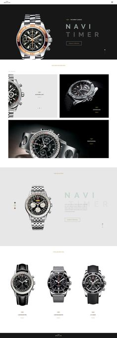 Breitling Experiment. Clockstore Ui design concept by Matteo Pausto on dribbble.
