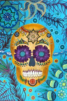 Dia De Los Muertos Skull-Colette Walker