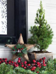 Organic Shapes + Textures - One Mantel Styled Three Ways for the Holidays on HGTV