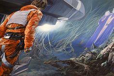 'Hero Leaving Swamp Planet', From my Star Wars-inspired series SANDSTORM. 2013