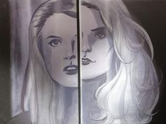 Heroes : Isaac Mendez's paintings - Niki and Jessica Sanders's split reflection