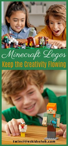 Twin Cities Kids Club Blogs: Minecraft Legos: Keep the Creativity Flowing - Before you start feeling guilty and put on the hair shirt, really let soak in this key point: getting creativity flowing in your child doesn't have to be hard. Inspiring creativity can be as natural as leveraging an interest your child already has. #kids #games #fungames #indoorgames #kids #kidsactivities #gameday #gameart #gamenight #kidsroomideas #kidscrafts #parents #parenting #parentingtips