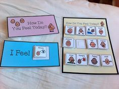 Calm Down Kit. Boardmaker visuals for students with special needs