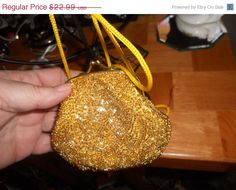 30 off moving sale Vintage gold seeded clutch purse with by EMTWTT, $16.09