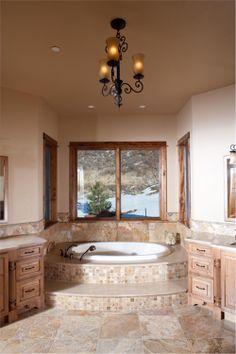 House Plan # 161-1051 master bathroom