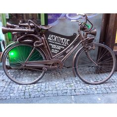 A Rocket Bike pictured by one of the @Capptura team outside of an absinthe store in #Prague #picoftheday #photooftheday #instadaily #nofilter #cool #street #art #photo #photography #snapshot