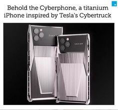 Thanks to Russian company Caviar, you can now have an iPhone 11 Pro shaped like a Cybertruck. Cool Technology, Medical Technology, Energy Technology, Technology Gadgets, High Tech Gadgets, New Gadgets, Tesla S, Nanotechnology, Future Tech