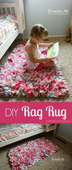 Best DIY Projects: Craftaholics Anonymous® | How to Make a Rag Rug tutorial