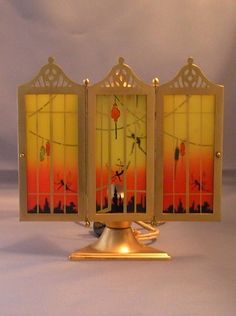 DeVilbiss Art Deco Perfume Lamp 1926 from fantiques on Ruby Lane