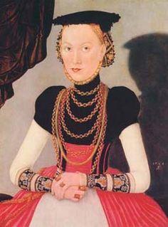 """Bildnis einer vornehmen Dame"""" von Lucas Cranach dem Jüngeren,"""