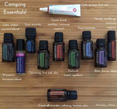 Oils for camping