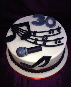 Musical cake, microphone cake