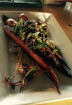 RoastedCarrots with Chimichurri @ Swallow Montauk