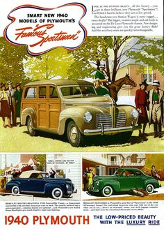 1940 Plymouth Deluxe Sportsmen Station Wagon