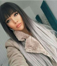 40 Pics of Grey Ombre Hair 2018 – 2019 New Ombre Hair Color, Grey Ombre Hair, Grey Wig, Onbre Hair, New Hair, Girl Hair, Ponytail Wig, Hollywood Hair, Pinterest Hair, Hair 2018
