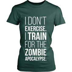 Stay fit. Outrun zombies. Survive. View Sizing Chart More