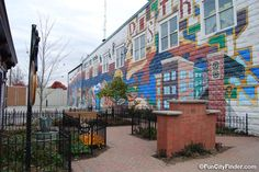 Picture of the mural in the Art & Design district in Carmel, Indiana