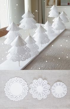 Doily Christmas Trees -