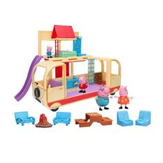 Peppa Pig veľký karavan s figúrkami Peppa Pig, Toddler Toys, Kids Toys, Play Beds, Outside Seating, Go To Walmart, Toys R Us Canada, Pop Up Tent, Outdoor Fire