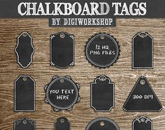 Popular items for chalkboard tags on Etsy