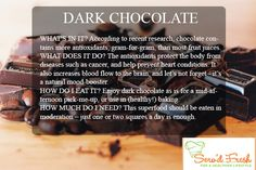 Dark Chocolate is great for you! Heart Conditions, Fruit Juice, Healthy Lifestyle, Conditioner, Cancer, Cards Against Humanity, Let It Be, Chocolate, Dark