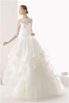 Ball Gown Rosa Clará Wedding Dresses Weddbook Long Sleeved Dressesvera