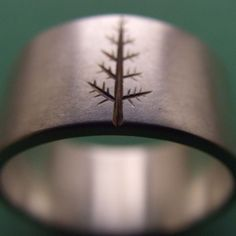 Sterling Silver Ring with an Oregon Pine Tree by ashhilton on Etsy, $140.00