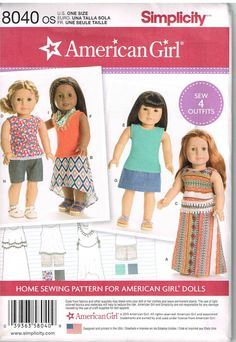 18 Inch Tall American Girl Asymmetric Skirt and Top Simplicity 8040 by PeoplePackages