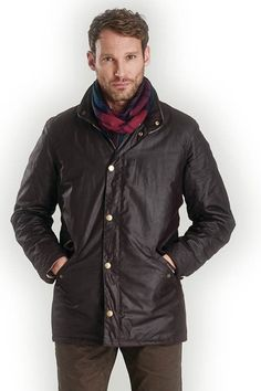 Barbour Prestbury mens Wax Jacket in Rustic MWX0726RU91 from Smyths Country Sports