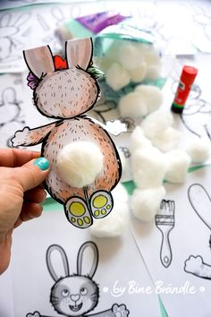 Superstars Which Are Helping Individuals Overseas Dont Forget To Add A Fluffy Bunny Tail Easter Arts And Crafts, Bunny Crafts, Spring Crafts, Easter Brunch, Easter Party, Diy For Kids, Crafts For Kids, Easter Games, Animal Art Projects