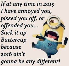 2016 ain't gonna be any different! #funny #minion