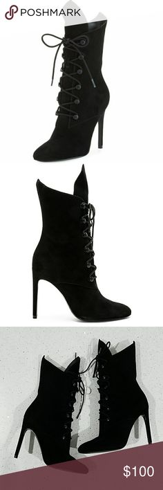 """☘️ Sale 2day Kendall + Kylie Lace Up Suede Booties The perfect booties for any season, these lace up cuties will make any outfit pop. Like new!  - 4"""" heel - Almond toe - Lace up front - Side zipper Kendall & Kylie Shoes Ankle Boots & Booties"""