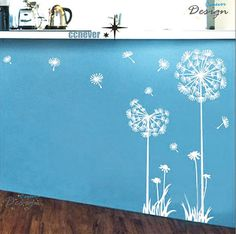 Dandelion Flowers 40inch Hart Graphic Vinyl wall decals by ccnever, $29.99