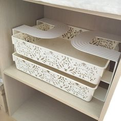100均材料で便利に!カラーボックスに棚を作る方法4選☆|LIMIA (リミア) Craft Room Shelves, Craft Room Storage, Craft Organization, Storage Spaces, Bedroom Closet Storage, Small Workspace, Diy Interior, Room Inspiration, Furniture