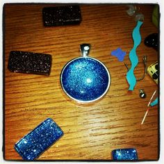 Blue Glitter pendant by Kate