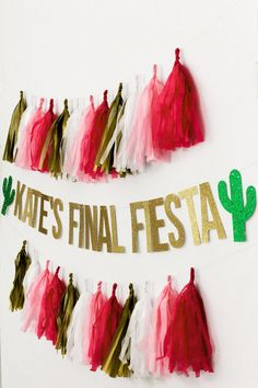 Final Fiesta Banner, Custom Bachelorette Party Decorations, Personalized Cactus Hen Party Decor, Mexican Fiesta Bachelorette Decorations - Time to fiesta! If you're hosting a Mexican themed bachelorette party, then you need this persona - Fiesta Party Decorations, Bachelorette Party Planning, Bachelorette Party Decorations, Party Props, Desert Bachelorette Party, Party Games, Party Ideas, Bachelorette Banner, Fiesta Party Favors