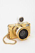 Bling-y Lomography Gold Fisheye 2 Camera Antique Cameras, Vintage Cameras, 3d Camera, Lomo Camera, Camera Shop, Film Camera, Digital Camera, Gold Everything, Or Noir