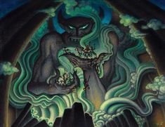 Chernabog Concept Pastel Painting by Kay Nielsen from Fantasia