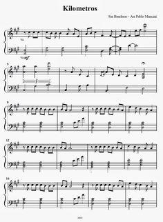 Partituras ineditas para piano: Kilometros - Sin Bandera