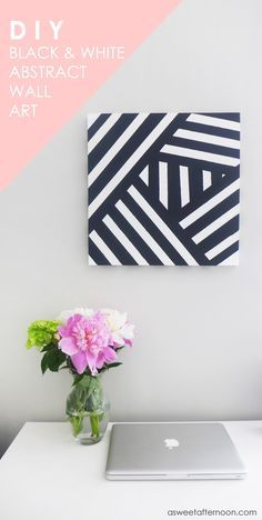 As you might already know from my last DIY wall art project, I tend towards a modern style. I also kind of have a thing for geometry. While we don't always have the same home decor preferences, I think an overall modern style is one thing that my husband, Dave, and I actually... #canvaspainting