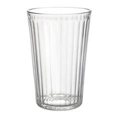 IKEA - VARDAGEN, Glas, 43 cl, , Auch für warme Getränke geeignet.Aus gehärtetem Glas, stoßfest und haltbar.Durch die schlichte, gerade, hohe Form eignet sich das Glas bestens für kalte Getränke jeder Art, z. B. kohlensäurehaltige Drinks mit viel Eis.