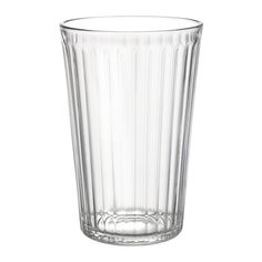 IKEA - VARDAGEN, Glass, 15 oz, 10 oz, & 7 oz, packs of 6 @ $4.99 each.  Also suitable for hot drinks.Made of tempered glass, which makes the glass durable and extra resistant to impact.