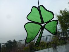 Stained Glass FourLeaf Clover Window Ornament by BlueFishStudios, $10.00