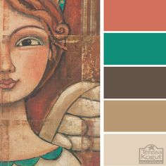 Earthy - pop of teal and copper