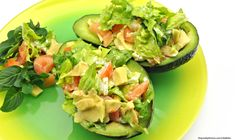 This Salmon Stuffed Avocado is a delicious and refreshing recipe combining two of our top inflammation-fighting foods! Pescatarian Recipes, Paleo Recipes, Real Food Recipes, Cooking Recipes, Cleanse Recipes, Yummy Food, Endo Diet, Summer Dishes, How To Eat Paleo