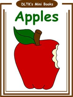 With a Faithful Heart: APPLES! Free printable mini-book, song, and Johnny Appleseed video link! Apple Unit, Apple Books, Mini Books, Apple Activities, Autumn Activities, Nutrition Activities, Toddler Teacher, Toddler Preschool, Teaching Kids