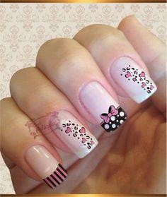 Uñas en rosa