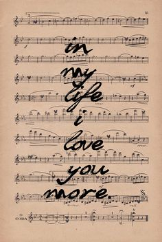 In My Life...My favorite song ever